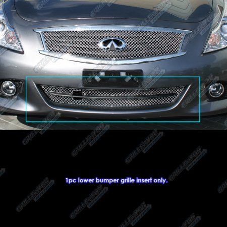 infinity 2011. fits 2011-2013 infiniti g25/g37 sedan bumper stainless steel x mesh blitz grille infinity 2011