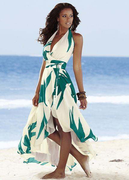 Palm print halter maxi dress - As seen on Gok Wan • £39.99 • bonprix