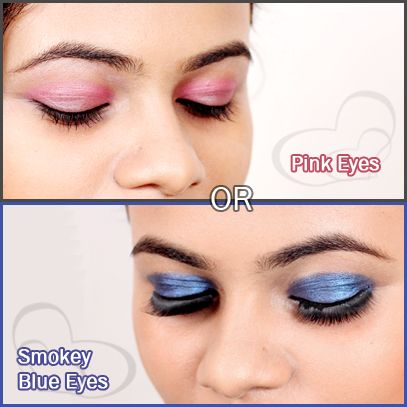 Which EYE-MAKEUP would you like to adore??? Pink OR Blue  Watch these tutorials so that you can DO IT YOURSELF...!!! PINK: http://www.youtube.com/watch?v=DTVrMsmvyeE BLUE: http://www.youtube.com/watch?v=E23gc9yvcRw