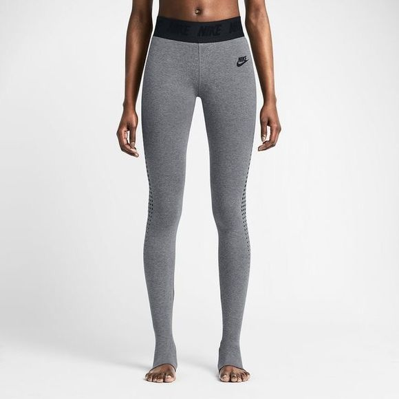 Nike Burnout Stirrup Leggings. Nike Burnout Stirrup Leggings. They don't ride up when your stretching and moving in barre class, and they stay perfectly tucked into boots. And that is what makes the Nike Burnout Stirrup Leggings an absolute must-have. Women's size Medium. NEW with tags. Nike Pants Leggings