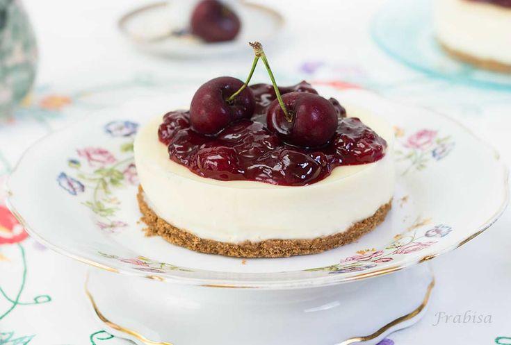 receta, tarta, chocolate blanco, sin horno, jalea-cerezas-frabisa