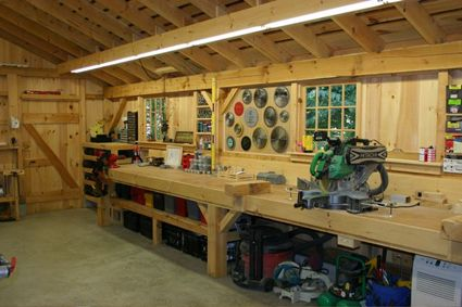 Interior of One & A Half Story Post and Beam Country Barn with Options | Workshop in 2019 ...