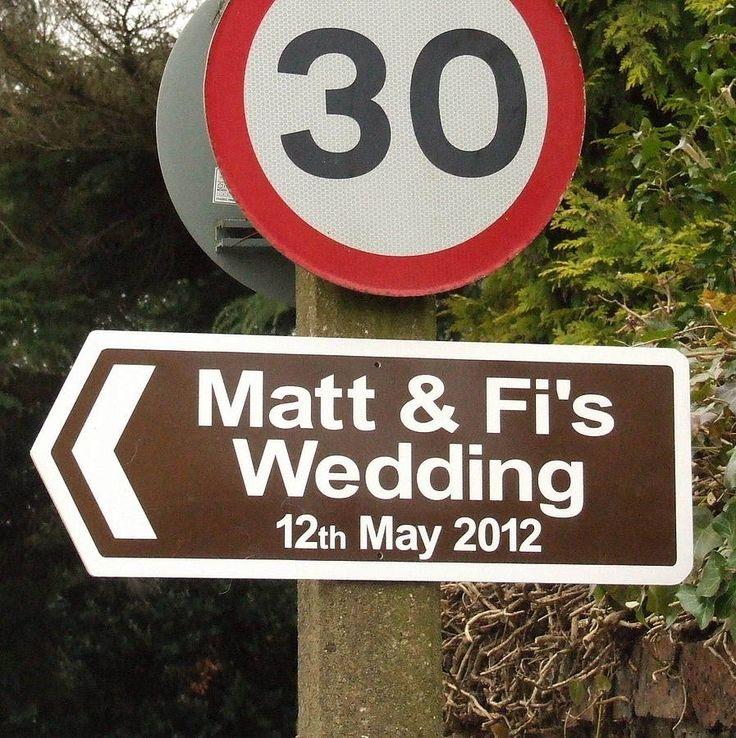 Make it easy for your guests to find your wedding venue or wedding reception with a high quality personalised direction sign. £28.00
