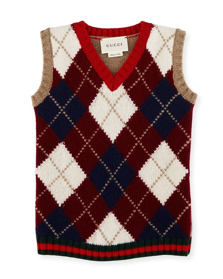 Wool Argyle Sweater Vest 99