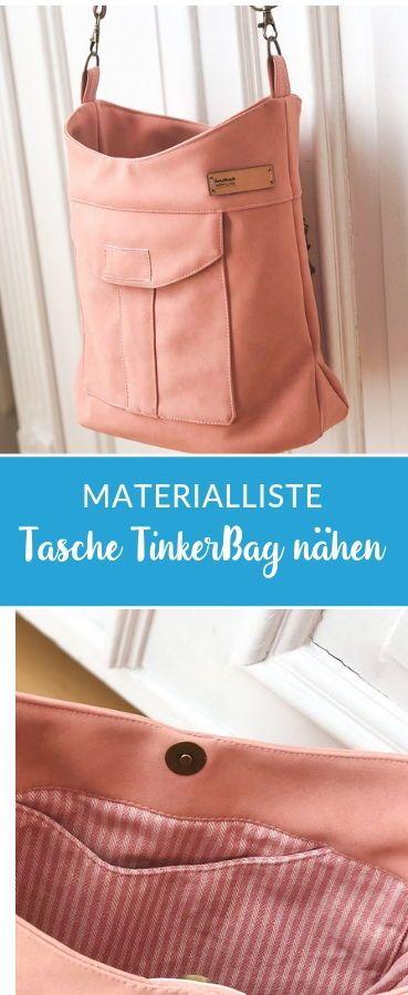 Tasche TinkerBag mit passender Materialliste #nähen #taschenähen #nähenfürmi…