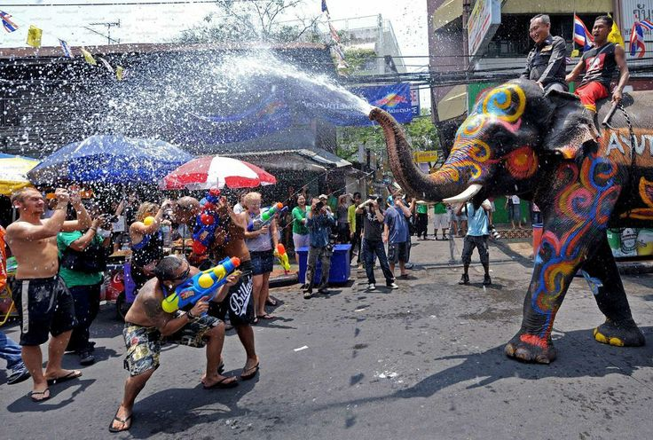 Songkran festival also brings to mind the character and nature of dress one would naturally chose for the occasion. http://www.tomsfashion.com/blog/songkran-thailand-splash-2014/