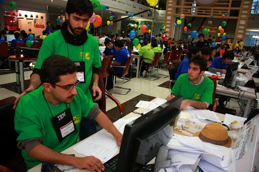 Team work is always important during any ACM ICPC World Finals competition.    #team #competition #China #ICPC2010