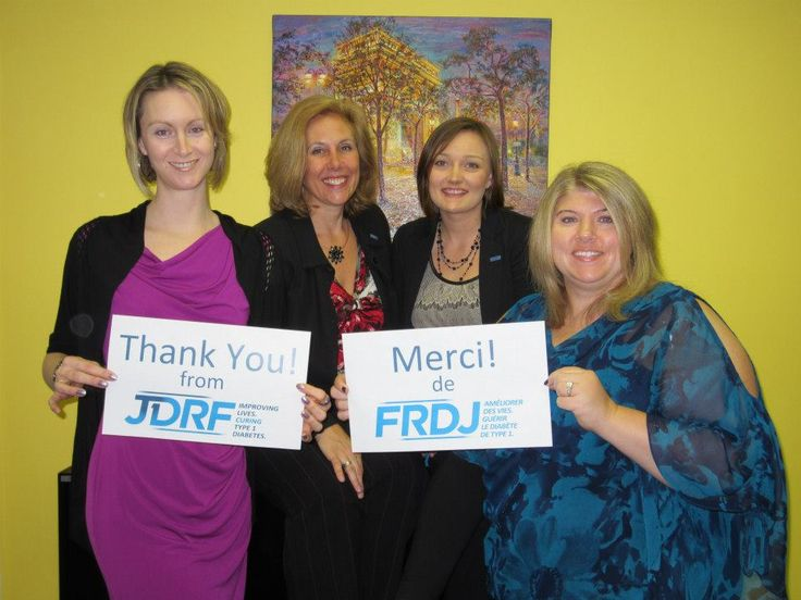 """JDRF Staff say """"Thank You""""!"""