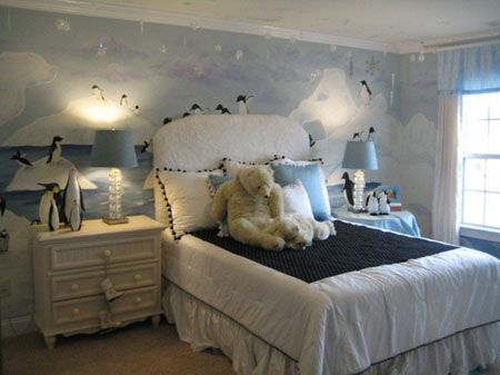 I would want this room!Polar Bears, For Kids, Little Boys Room, Wall Murals, Kids Room, Girls Room, New Bedrooms, Dreams Room, Room Theme