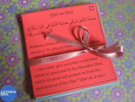 Make Pocket-Size Qur'an Du`a Cards [Ramadan Journal] | Zaufishan