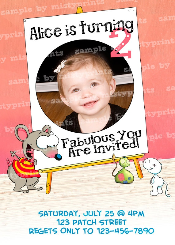 Toopy & Binoo Birthday Invitation GIRL or BOY - Printable TOTALLY Customizable and includes your Photo