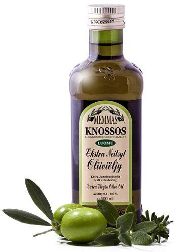 MEMMAS KNOSSOS - Oliiviöljyn käyttö