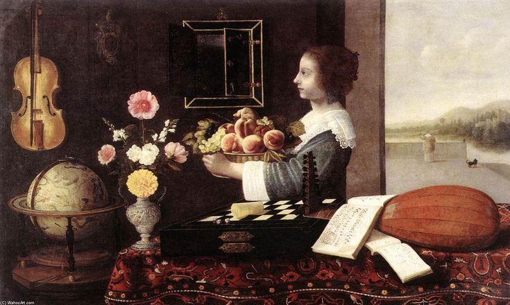 'Été ou les Cinq Sens', huile sur toile de Sébastien Stoskopff (1597-1657, France)