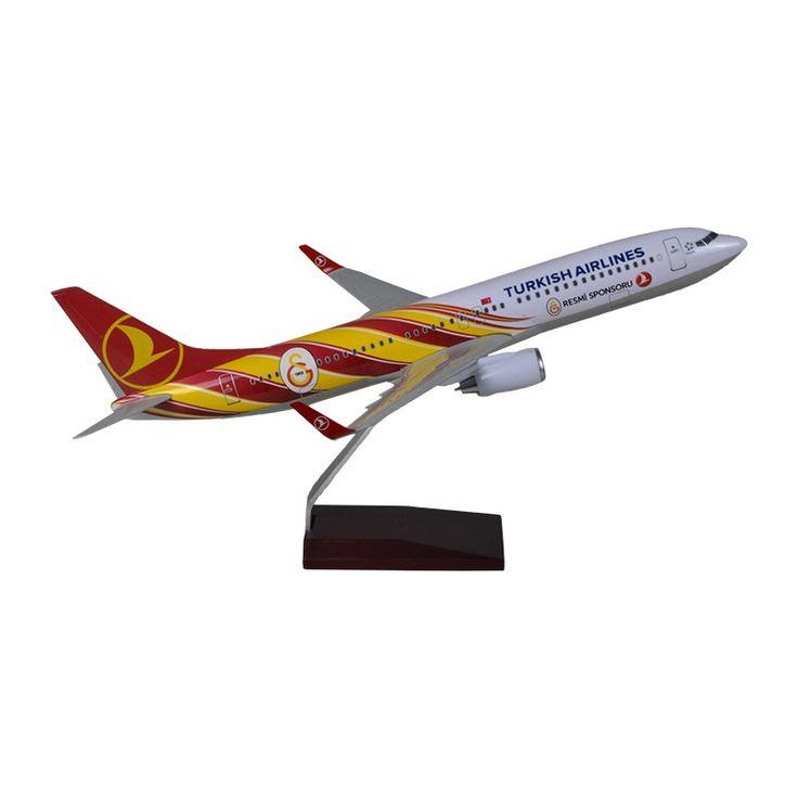 TK Collection B737/800 1/100 GS Model Uçak ::
