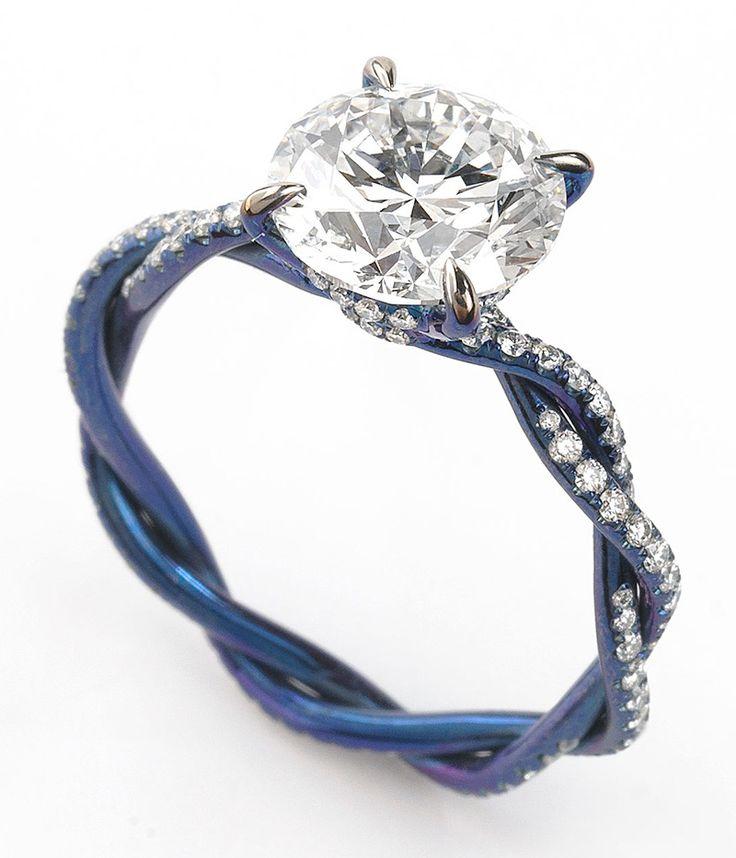 Titanium engagement ring by Glenn Spiro