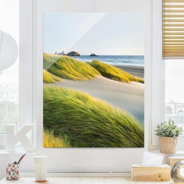 Glasbild #Strand - #Dünen und Gräser am #Meer - #Strandbild Hoch 4:3 #Glasbilder #Glasbild #BildausGlas #BildaufGlas #Highlights #GlasbildKüche #Spritzschutz #3D #Bild #Echtglas