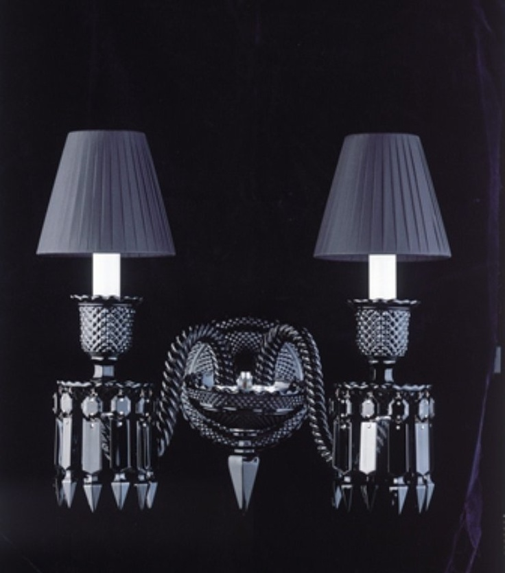 Sexy Black Sconces by Baccarat designed by Phillipe Starck