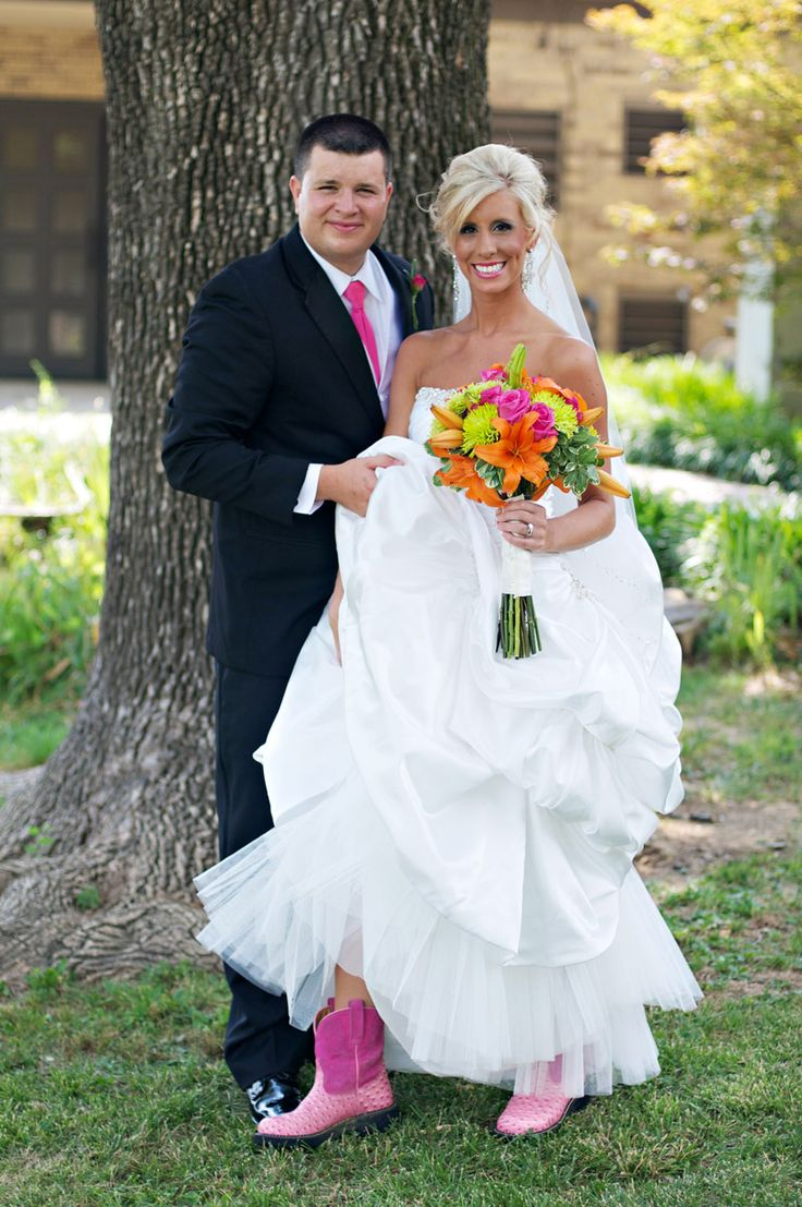 wedding cowgirl boots pink - Google Search