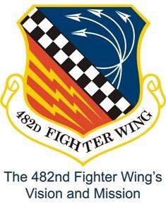 Homestead Air Reserve Base, 482 Fighter Wing logo  #USAF #Florida #Homestead
