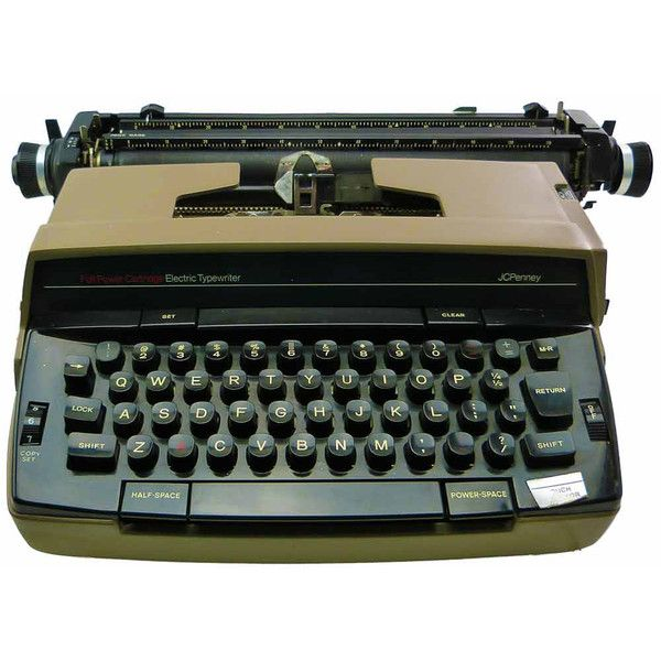 Vintage Working 1980 JC Penney Portable Electric Typewriter Model 1180... ($128) ❤ liked on Polyvore featuring home and home decor