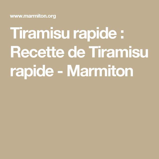 Tiramisu rapide : Recette de Tiramisu rapide - Marmiton