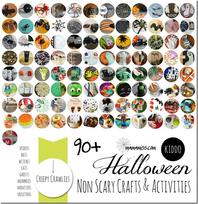 90+ Non-Scary Crafts & Activities for Kids @Melissa {mama♥miss} #kbn