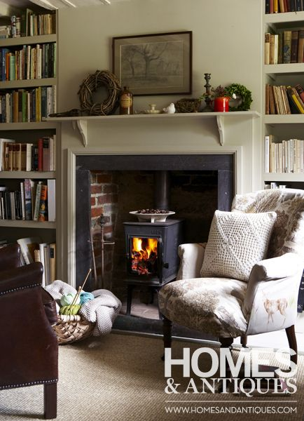 Your favourite armchair in front of a roaring fire - one of life's simple pleasures.