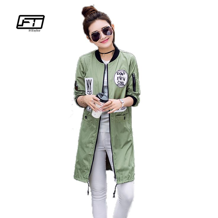>> Click to Buy << New Autumn Women Long Trench Coats Plus Size Print Letter Emboridery Windbreaker Street Fashion Baseball Casual Outwear #Affiliate