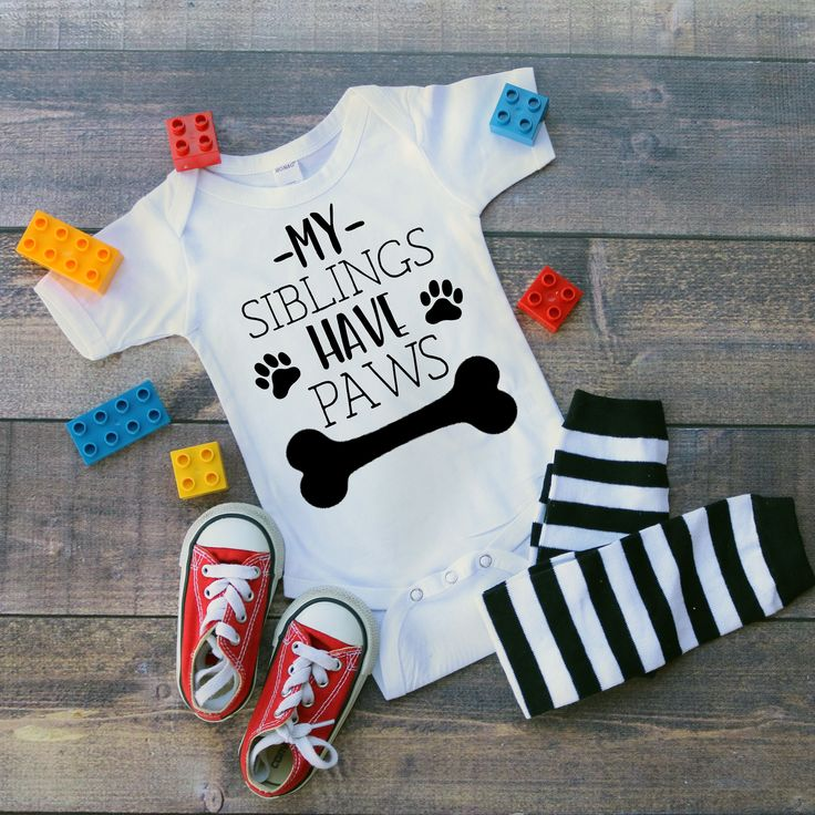 My Siblings Have Paws Onesie, Baby Boy, Baby Girl, Unisex, Baby Clothes, Baby Gift, Baby Shower, Dogs