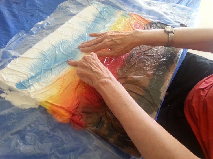 Art program in nursing home