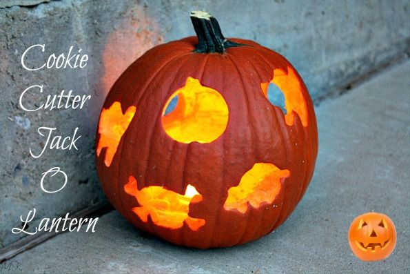 Cookie Cutter Jack O Lantern {Easy Pumpkin Carving} My kids had so much fun with this one.