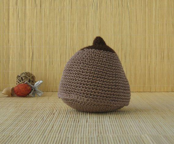 Brown Cotton Crochet Boob Antenatal by AnatomicalknitsbyLGD