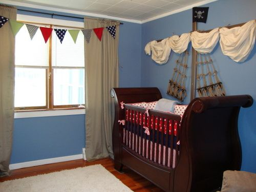 a pirate ship nursery: Pirates Ships, Pirate Ships, Boys Nurseries, Baby Boys, Ships Bedrooms, Child Bedrooms, Ships Nurseries, Bedrooms Ideas, Nurseries Ideas
