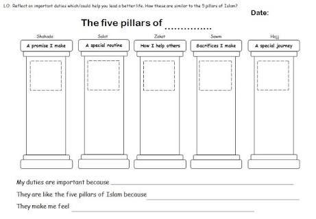 9 best islamic studies worksheets images on pinterest islamic studies worksheets and pillars. Black Bedroom Furniture Sets. Home Design Ideas