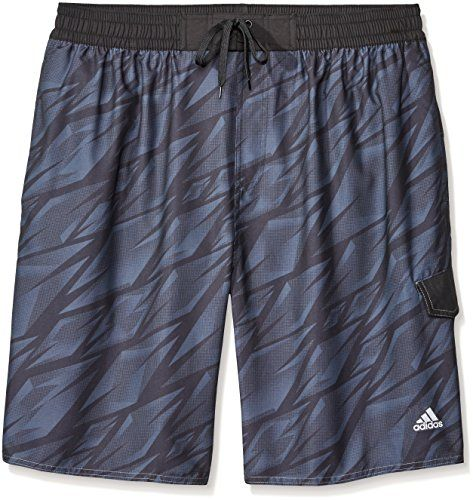 adidas Mens Big  Tall Shock Energy Volley Swim Trunk Black 4XLargeBig -- For more information, visit image link.