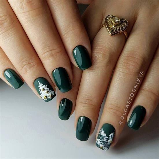 40 Elegante Grüne Nägel Für Weihnachten Dieses Jahr Wenn