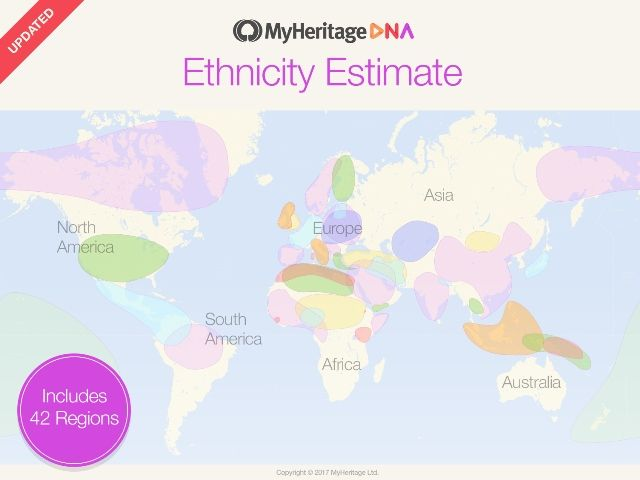 The new ethnicity estimates at MyHeritage now covers 42 different ethnic populations more than any other major DNA company, and many available only on MyHeritage