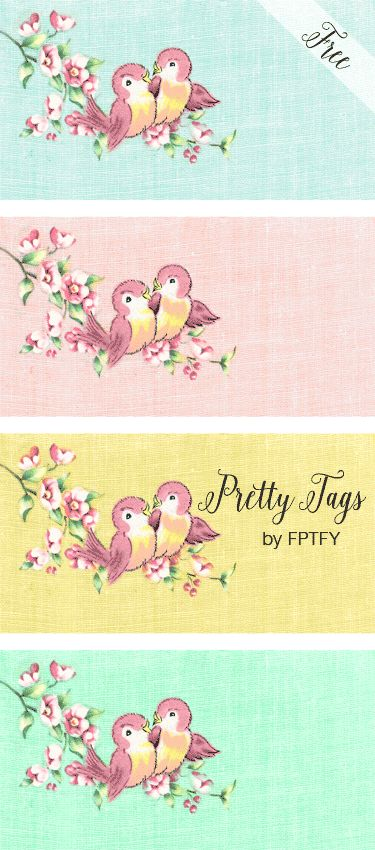 Free Vintage Love Bird Tags - Labels - Free Pretty Things For You