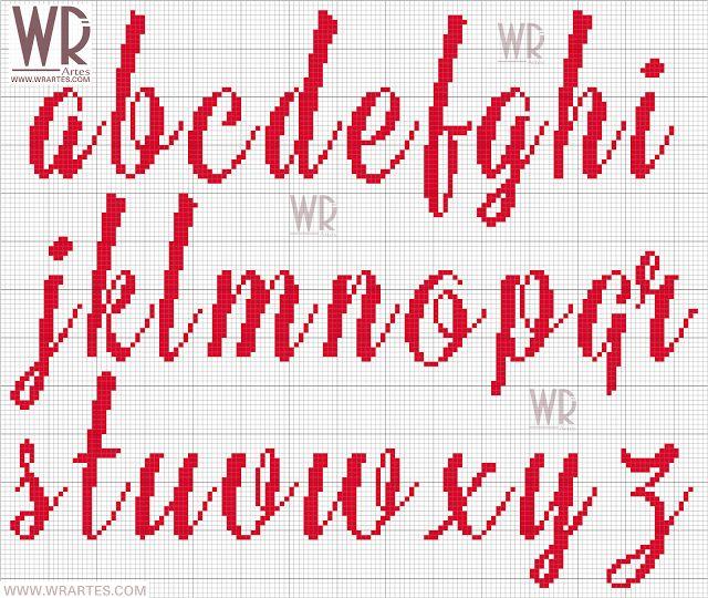 WR Artes (Blog do Wagner Reis): Gráfico de letras SOFISTICADAS para ponto cruz
