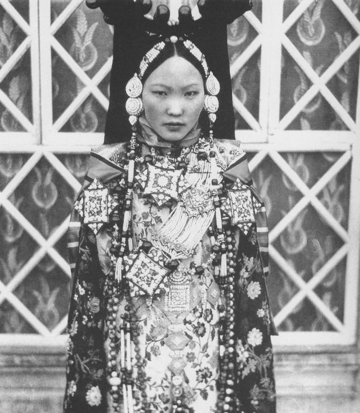 Tibetan Lady From Lhasa. Patruk Hairstyle.Old Photo
