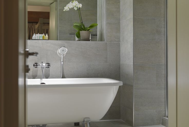 Bathroom in the Presidential Suite with underfloor heating and deluxe bathroom products