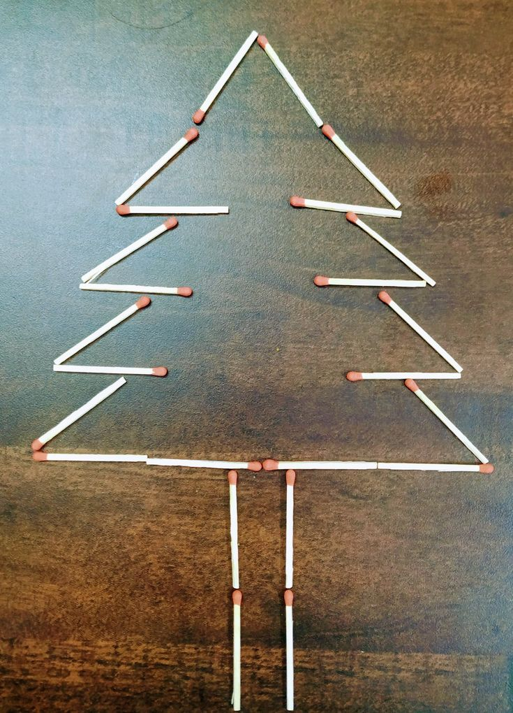 Christmas tree with matchsticks Christmas tree