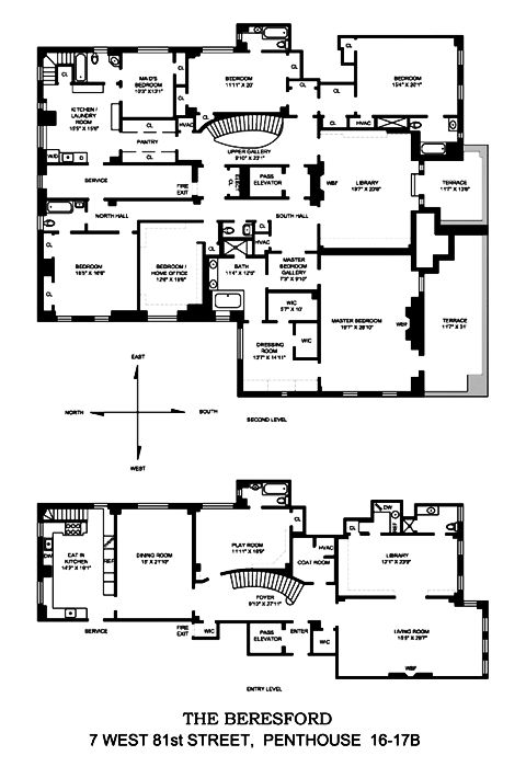 110 best manhattan penthouse floor plans images on for 110 square feet room