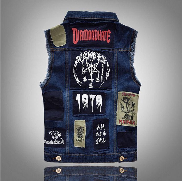 2016 new Men's Denim Vest Brand Jeans Vest Men Cowboy Vest Denim Sleeveless Jacket Motorcycle rider jacket men Jeans coats
