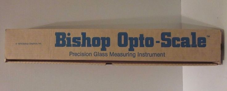 Bishop Graphics Opto-Scale Precision Glass Measuring Instrument 3580 1979