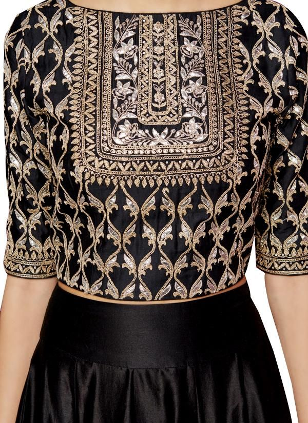 Indian Fashion Designers - Anita Dongre - Contemporary Indian Designer - The Black Karunya Sharara - AD-AW16-PH3-FW16MB092A