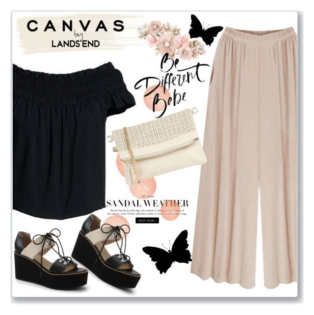 """Paint Your Look With Canvas by Lands' End: Contest Entry"" by andrejae ❤ liked on Polyvore featuring Lands' End, Canvas by Lands' End, Oasis, Accessorize, paintyourlook, canvasbylandsend and youaretheartist"