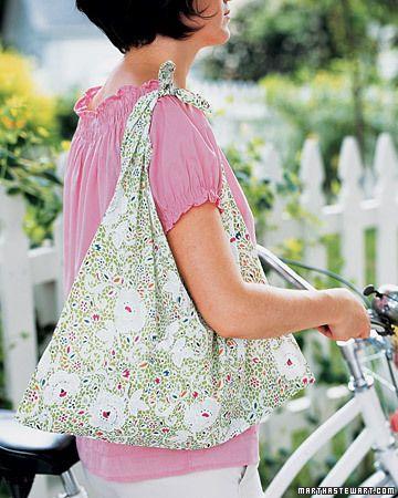 Pillow case bag. I smell a new beach bag (: