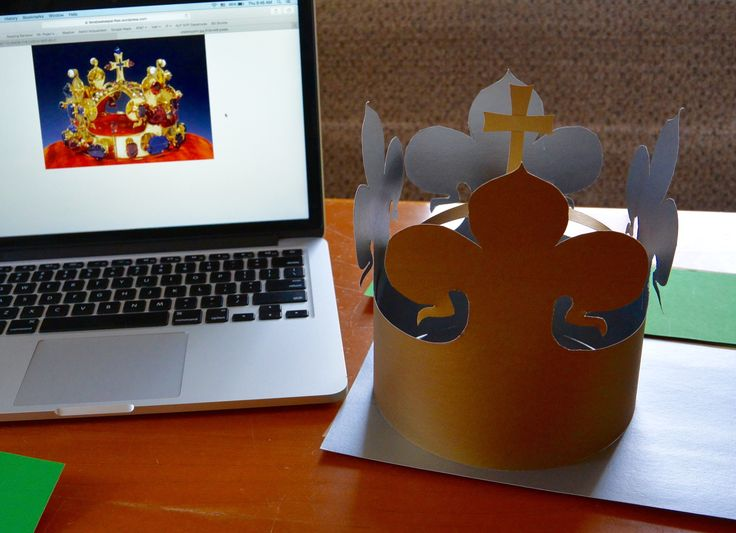 the crown, kids will decorate it by Czech crystal beads, what else, right?