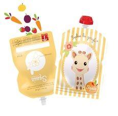 Deze zakjes zijn hervulbaar en zien er heel leuk uit. Vul ze met een smoothie of zelfgemaakte babyvoeding...